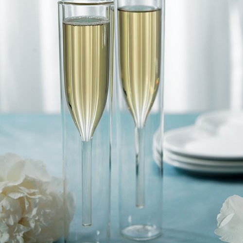 Чаши за шампанско с двойни стени
